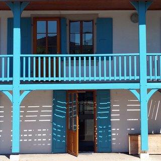 Maison bleu ciel
